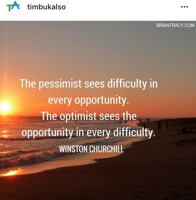 There is opportunity in every situation in life, you just