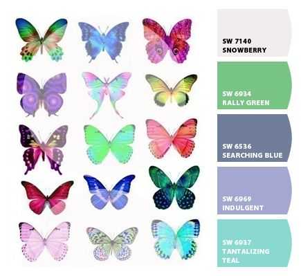 Paint colors from Chip It! by Sherwin-Williams  Butterflies by DigitalCollageSheets