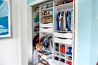Organize A Messy Kidsu0027 Closet With An Easy To Customize Storage System.