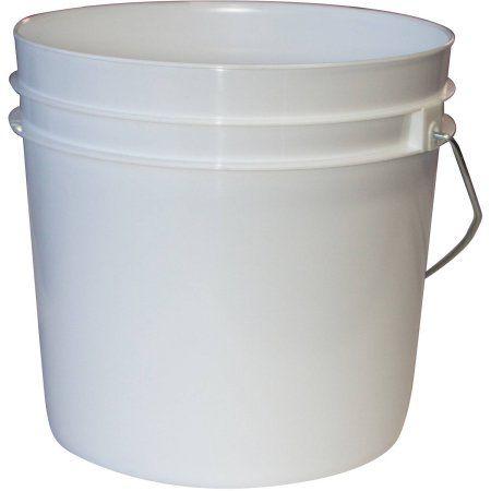 Argee 1 Gallon White Bucket 10 Pack Walmart Com In 2020 Plastic Pail Black Bucket Plastic Trays