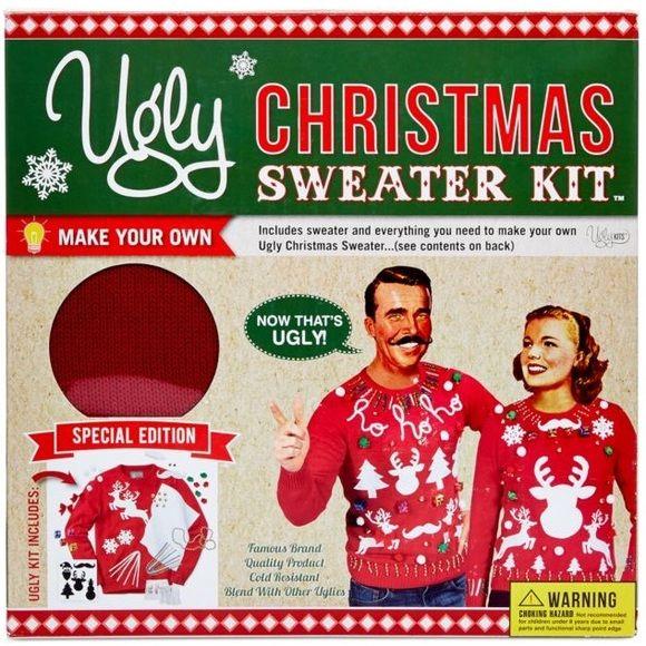 GREAT GIFT! Unisex DIY Ugly Christmas Sweater Kit NWT Pinterest