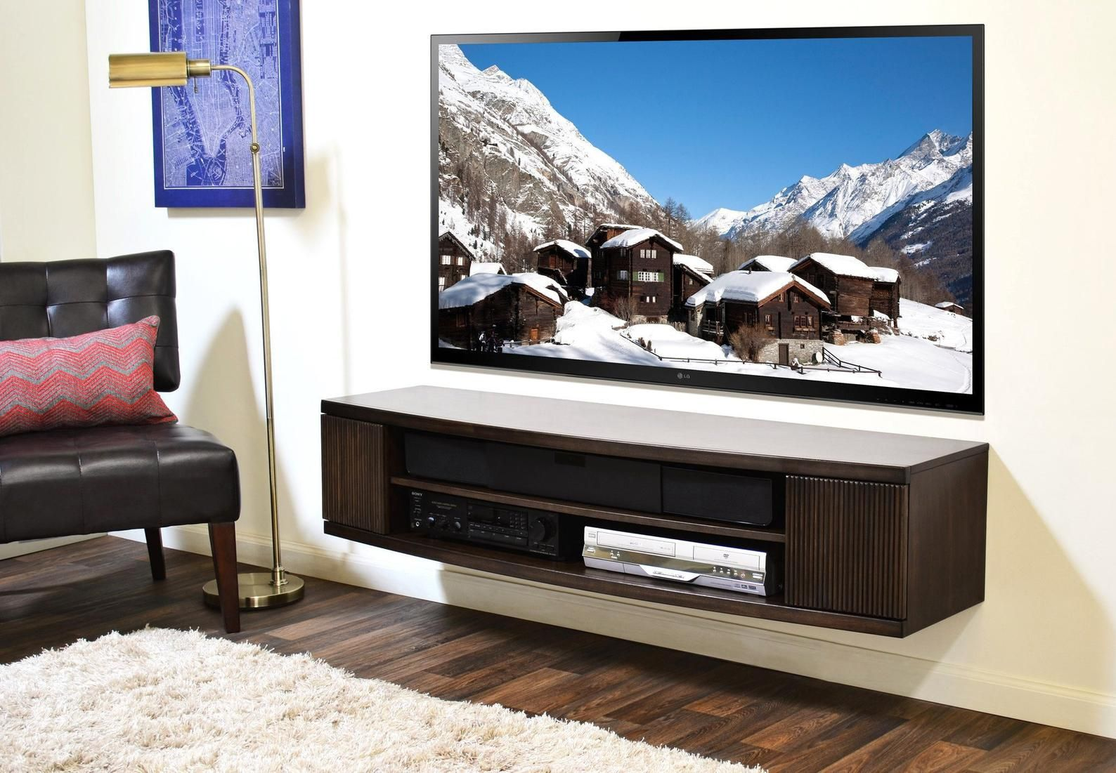 Curved Wall Mount Floating Entertainment Center Tv Stand Arc Etsy Wall Mount Entertainment Center Curved Walls Floating Entertainment Center
