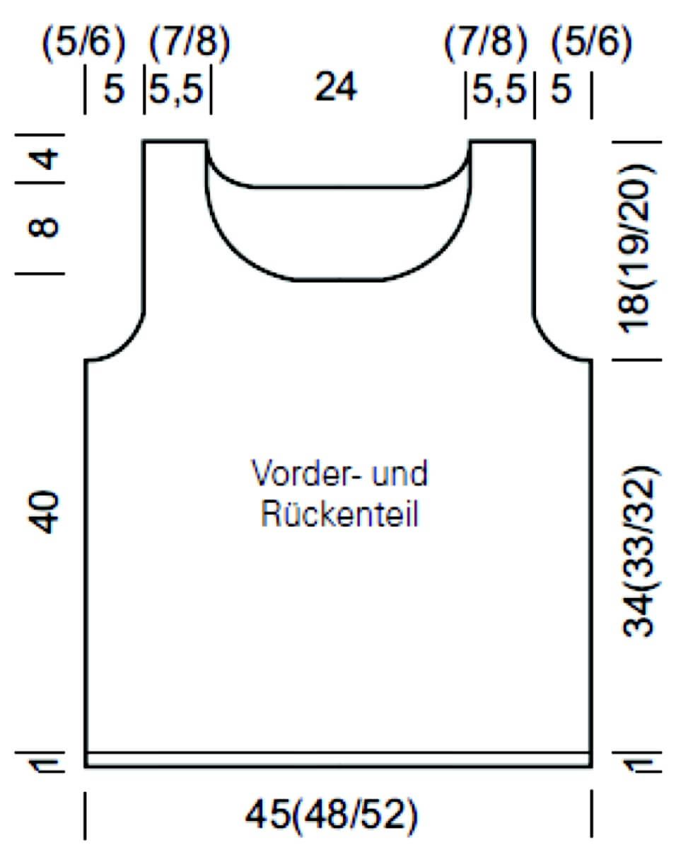 Baumwoll-Top für Damen - kostenlose Strickanleitung