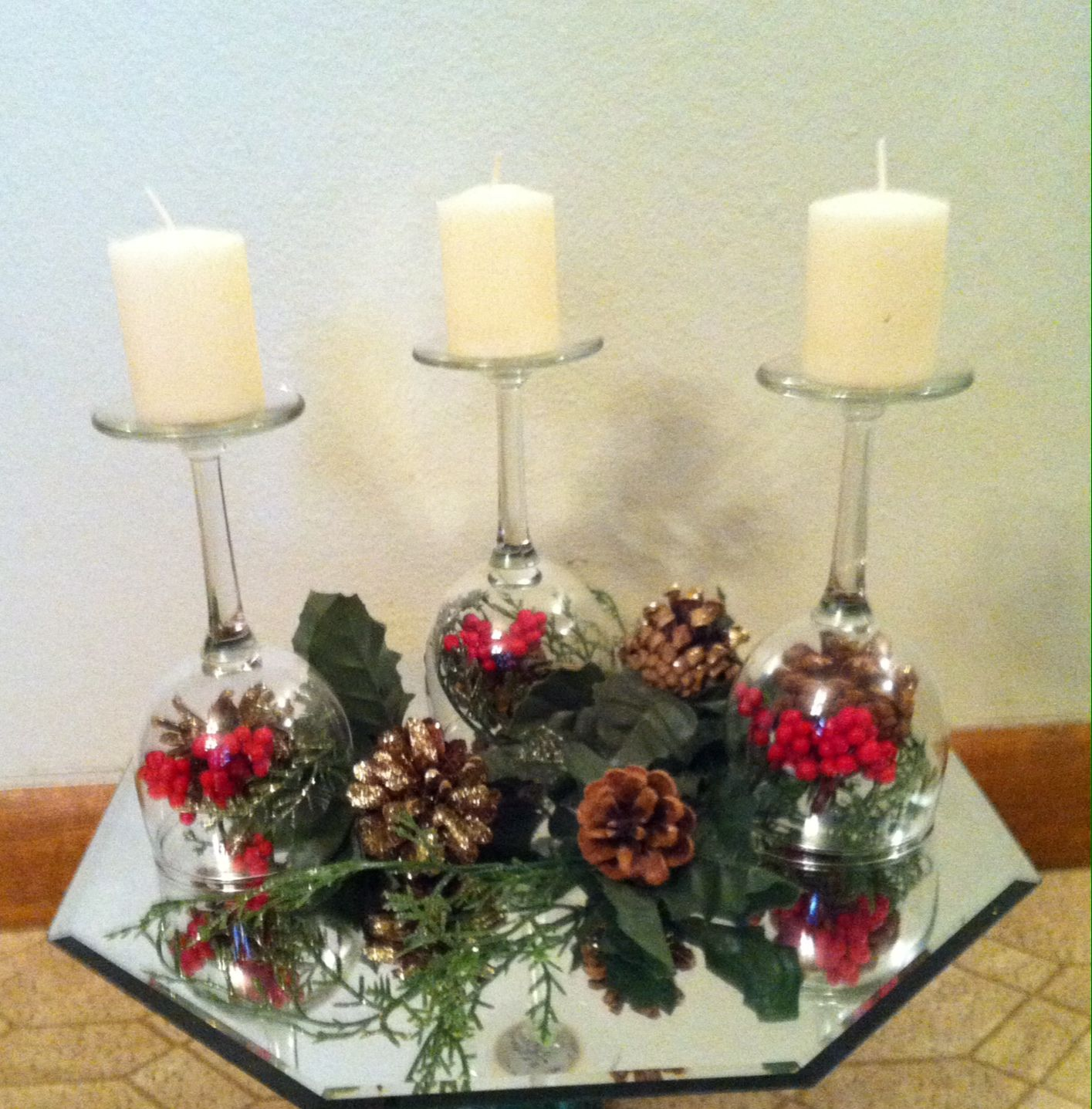 Wine Glass Centerpiece Christmas Table Centerpieces Wine Glass Centerpieces Christmas Decorations