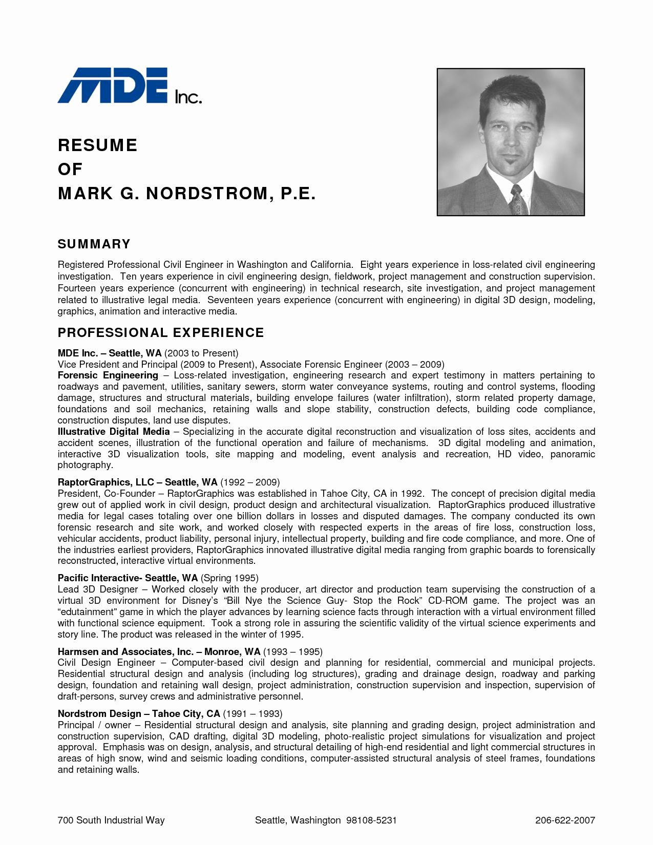 27 Civil Engineer Resume Examples in 2020 Sample resume