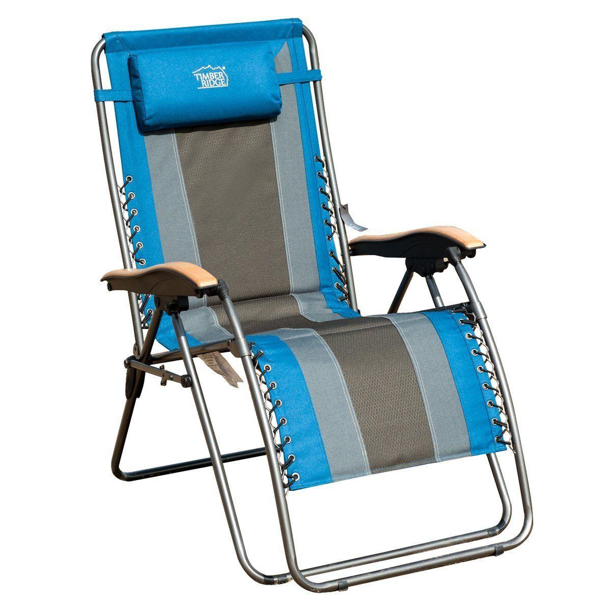 Damascus Oversized XL Padded Folding Zero Gravity Chair with Cushion ...