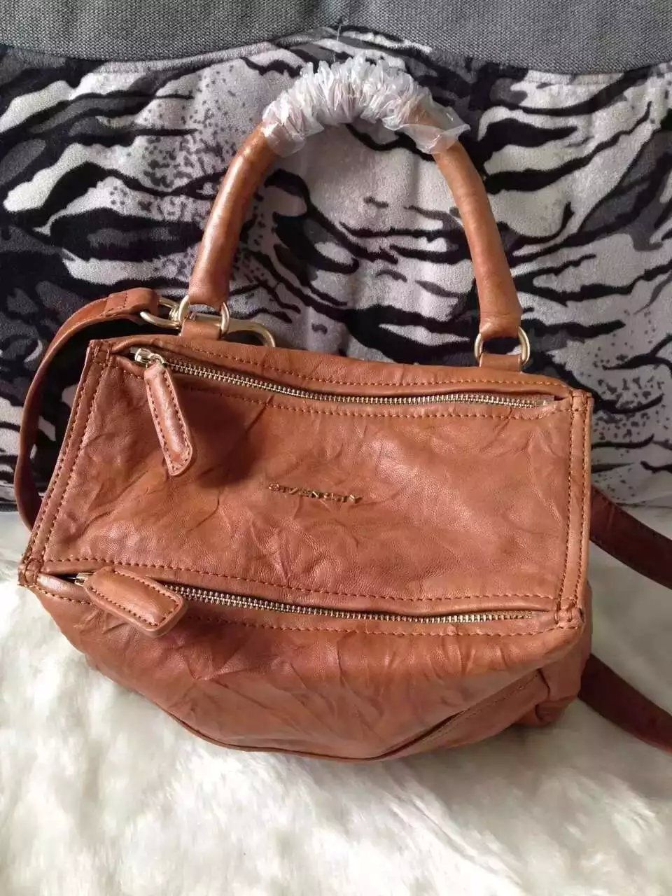 S S 2016 Givenchy Collection Outlet-Givenchy  PANDORA  Small Camel Pepe  Sheepskin Leather Bag Sale Online 32c26a91d36fd