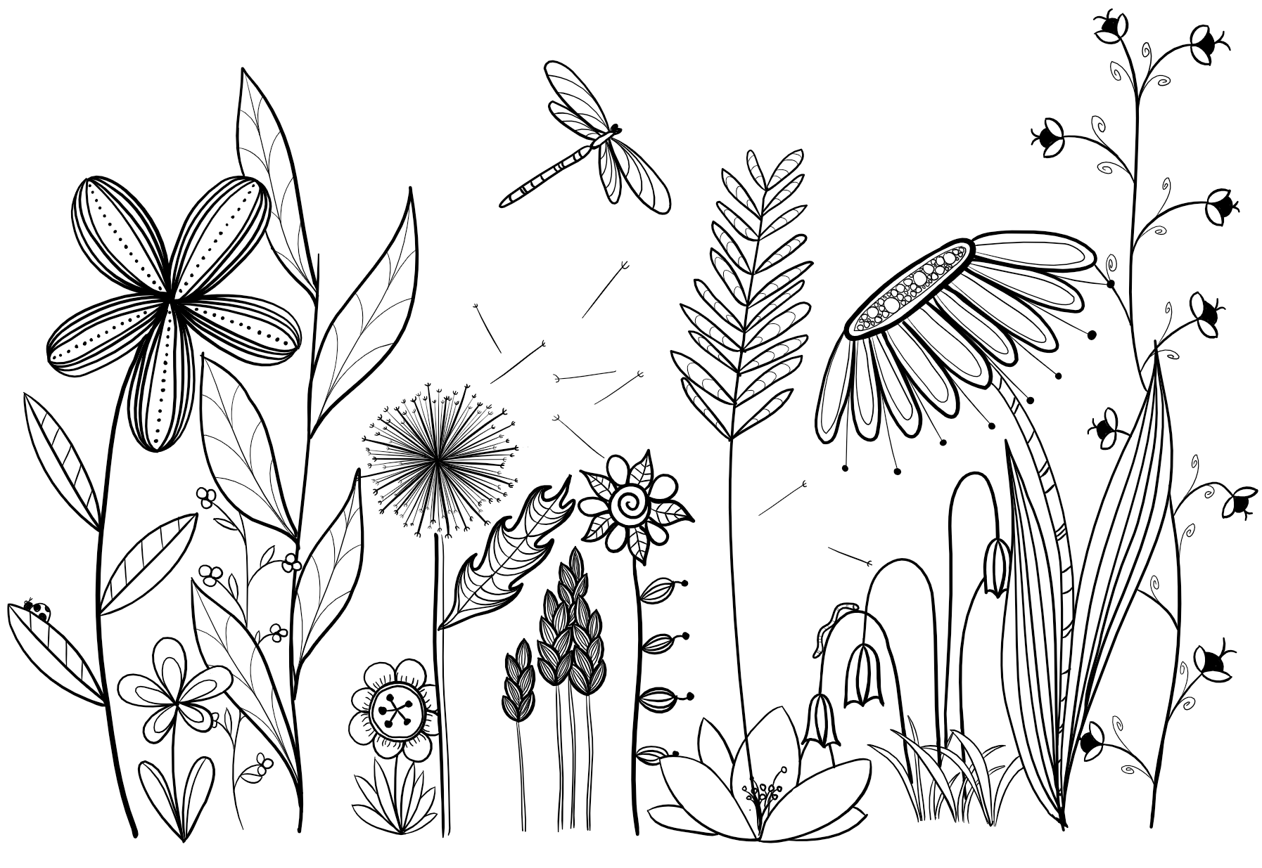 my original art, inspired by many. doodle, flower, line drawing