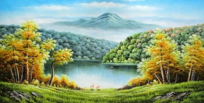 13 Makna Lukisan Pemandangan Gunung Pengertian Naturalisme Dan Contohnya Pelajarindo Com Download Lukisan Gunung Kinabalu Cikimm C Di 2020 Pemandangan Gambar Seni