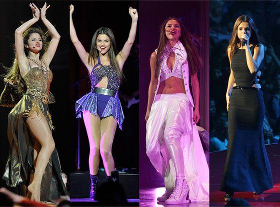 Check out Selena Gomez's Sexy Tour Costumes
