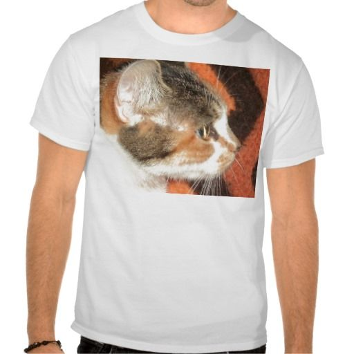 Cat Profile T Shirts!  #kitten #cat #zazzle #store #adorable #meow #fuzzy #gift #present #customize http://www.zazzle.com/conquestkitty*
