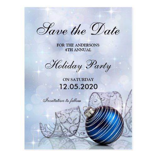 Christmas And Holiday Party Save The Date Template Postcard