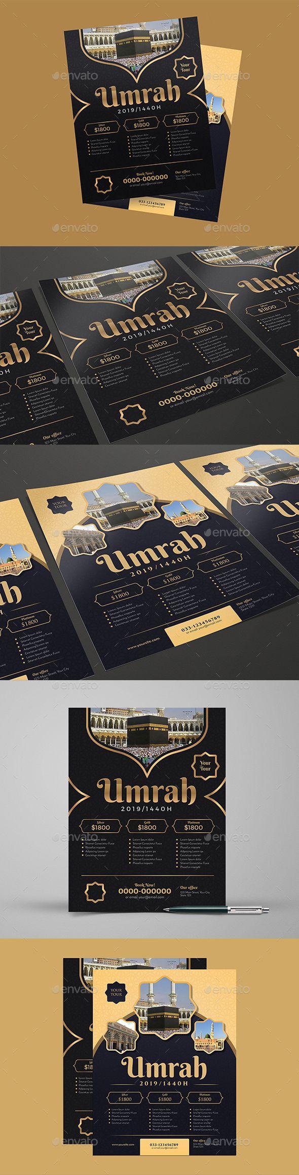 Umrah Banner: Umrah / Hajj Flyer Template PSD, AI #design