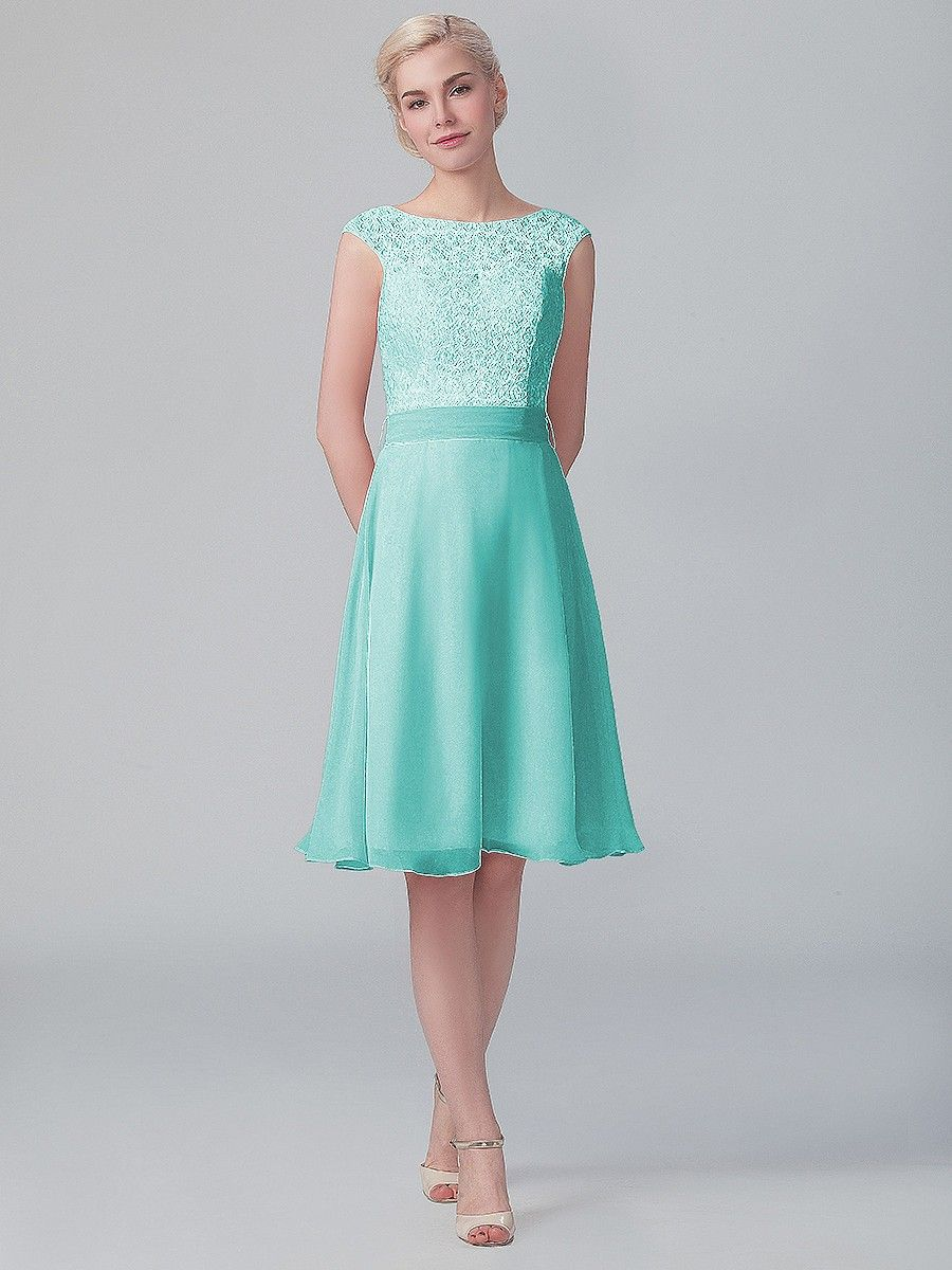 Cap sleeved lace chiffon dress plus and petite sizes available