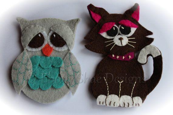 Felt Owl Finger Puppet Pattern Instant Download By