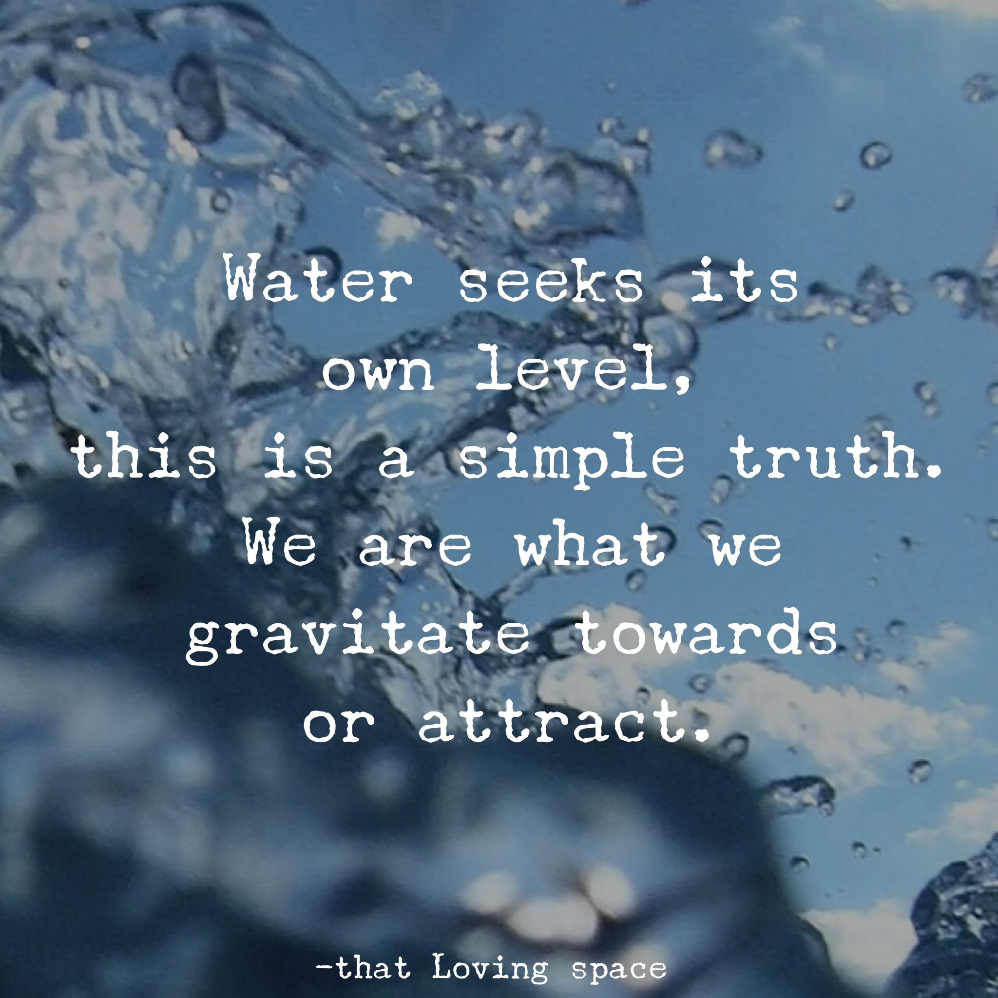 Image result for water seeks its own level