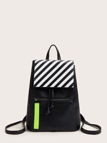 Striped Flap Backpack 17.00 USD    Source by spotpopfashion #Backpack #Flap #shein mochilas #Striped #USD