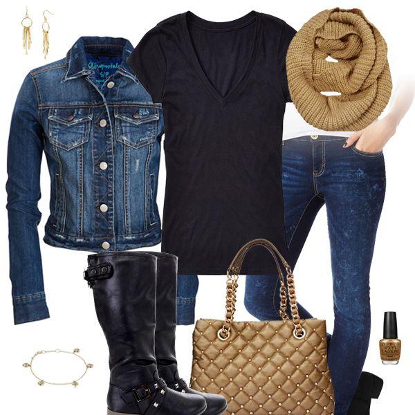 125d352d6922 Cute Jean Jacket   Jeans Outfit