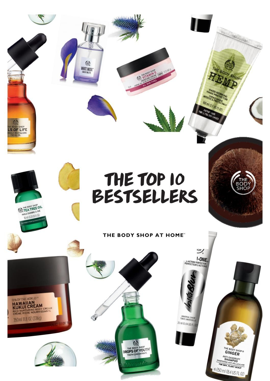 Top Ten Bestsellers Guide Body Shop At Home Best Body Shop Products The Body Shop Logo