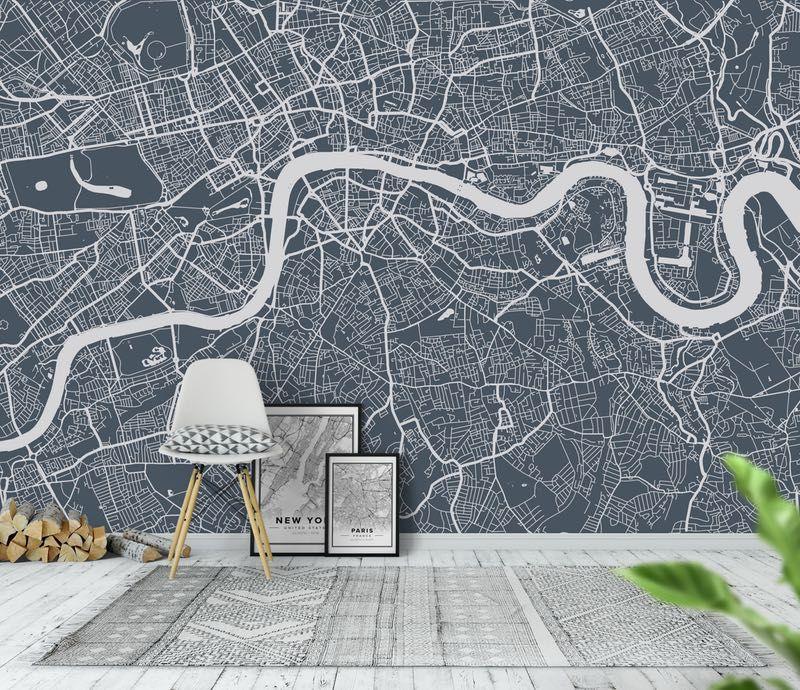 London city map Tapet London city map