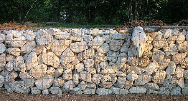 Limestone Gabion Wall | Gabion Ideas | Pinterest | Gabion Wall