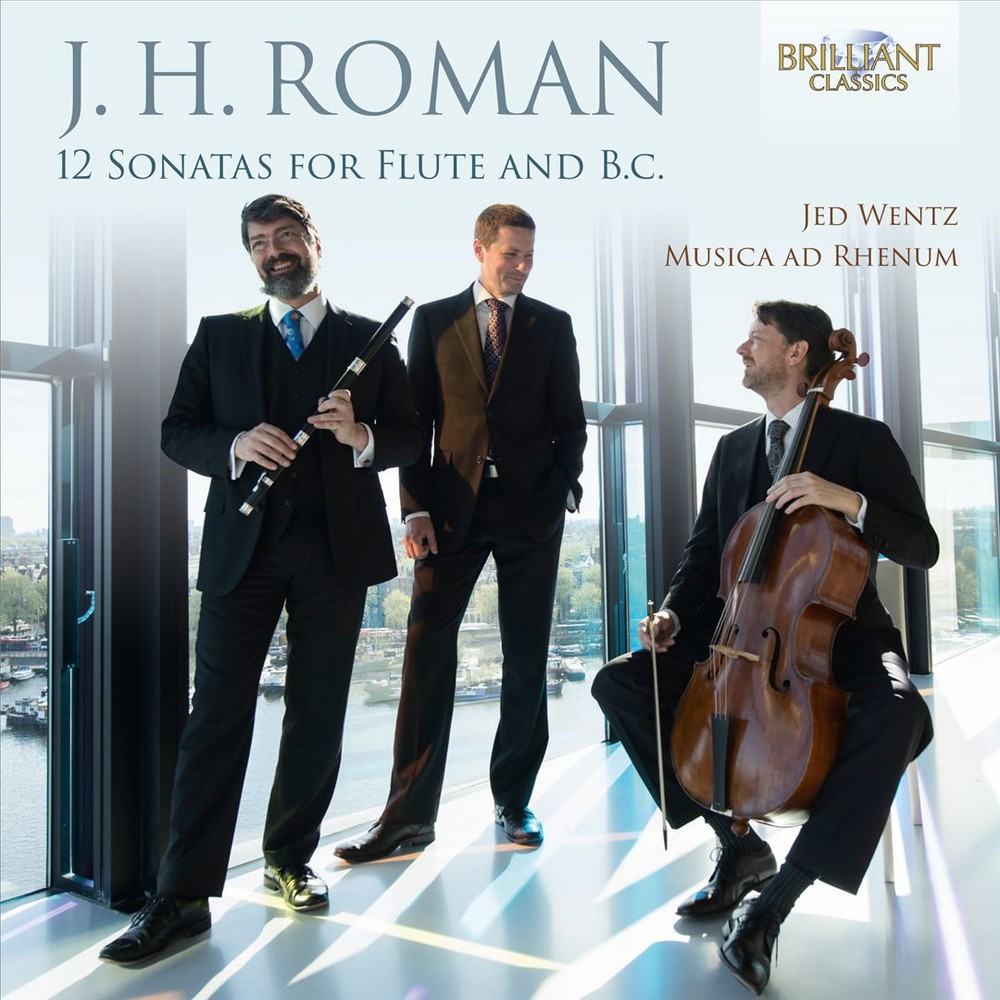 Jed Wentz - J.H. Roman: 12 Sonatas for Flute and B.C. (CD)