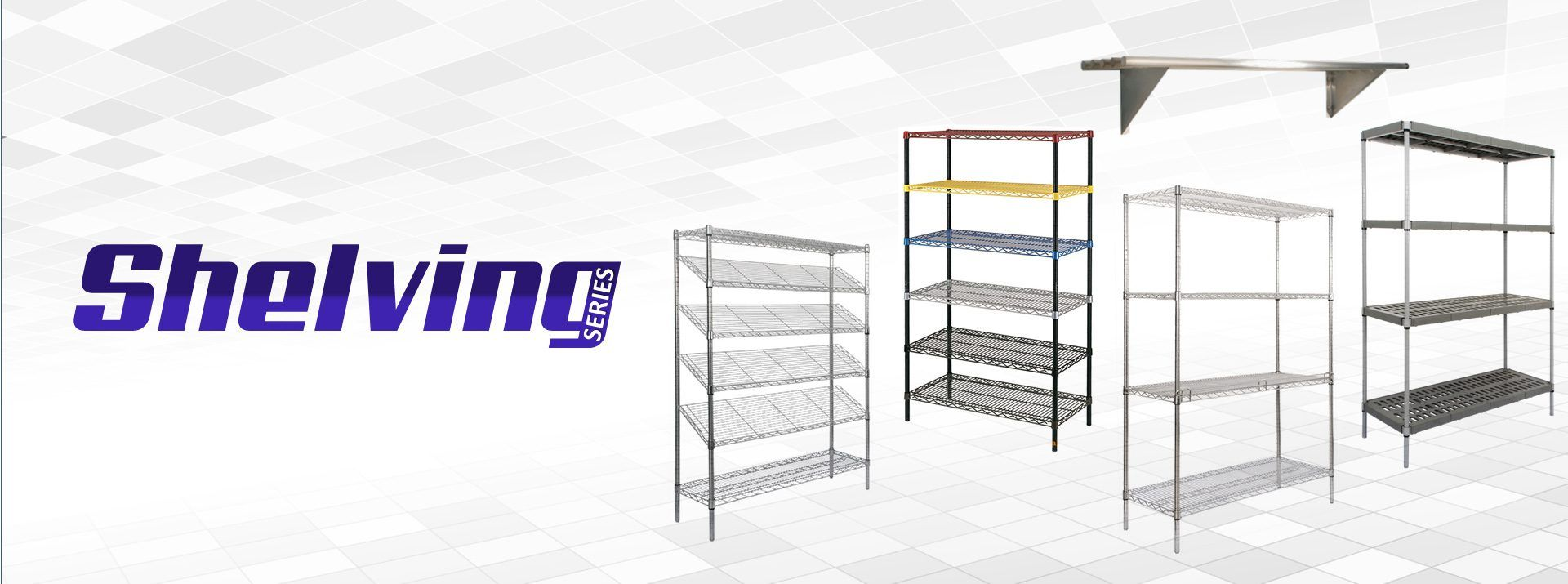 Casifit Galvanized Steel Wire Shelving are available in several ...