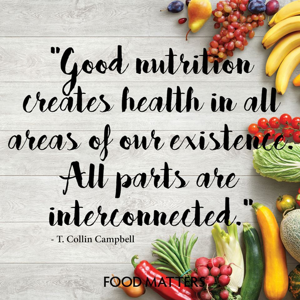 Food and good health - Good Nutrition Creates Health In All Areas Of Our Existence All Parts Are Interconnected
