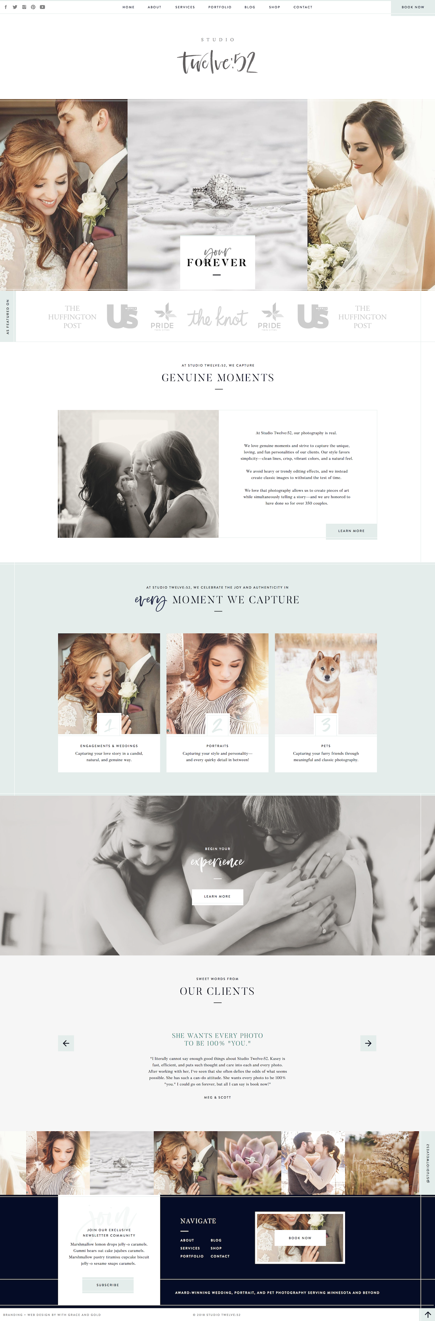 With Grace And Gold Branding Web Design And Education For Creative Women In Business Blog Design Inspiration Web Layout Design Web Development Design