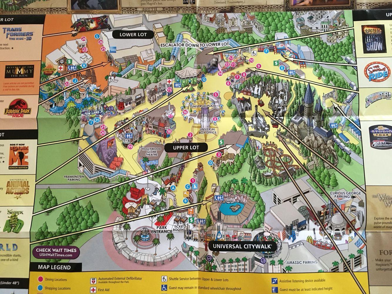 universal studios orlando park map pdf