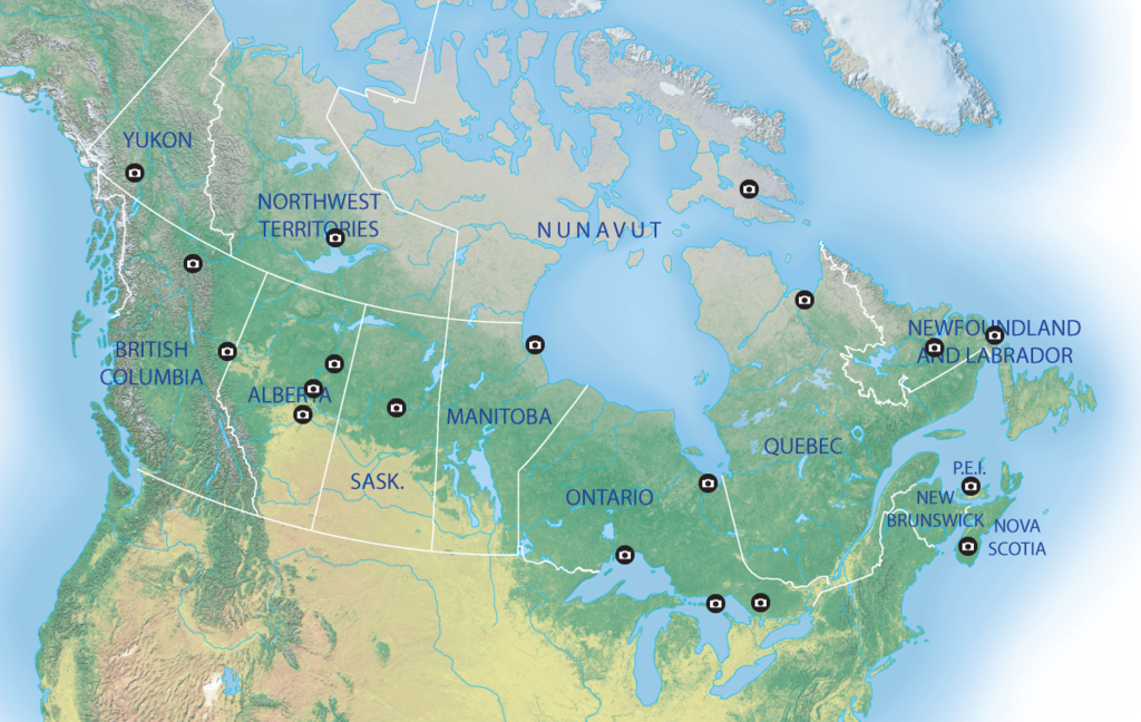 Map Of Best Places In Canada To See Northern Lights 15 Interesting Maps That Will Change The Way You See Canada