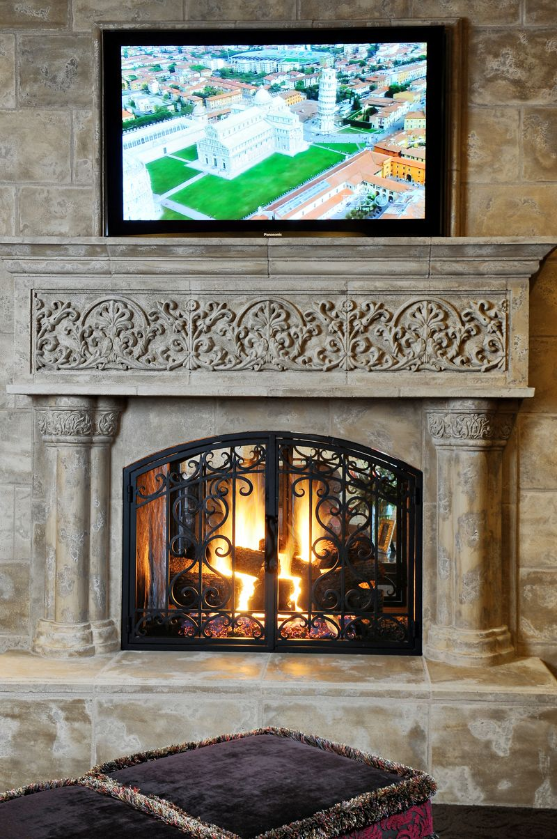 Image Html 800 1 204 Pixels Living Room Home Fireplace Stone