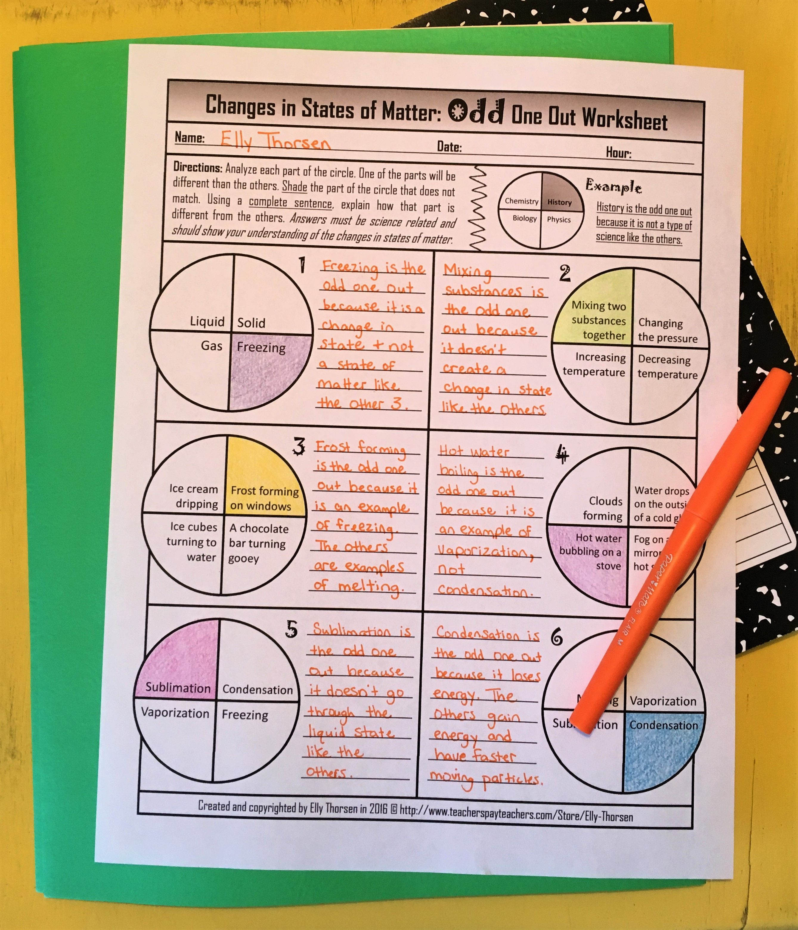 Product Preview States Of Matter Matter Science Physical Science