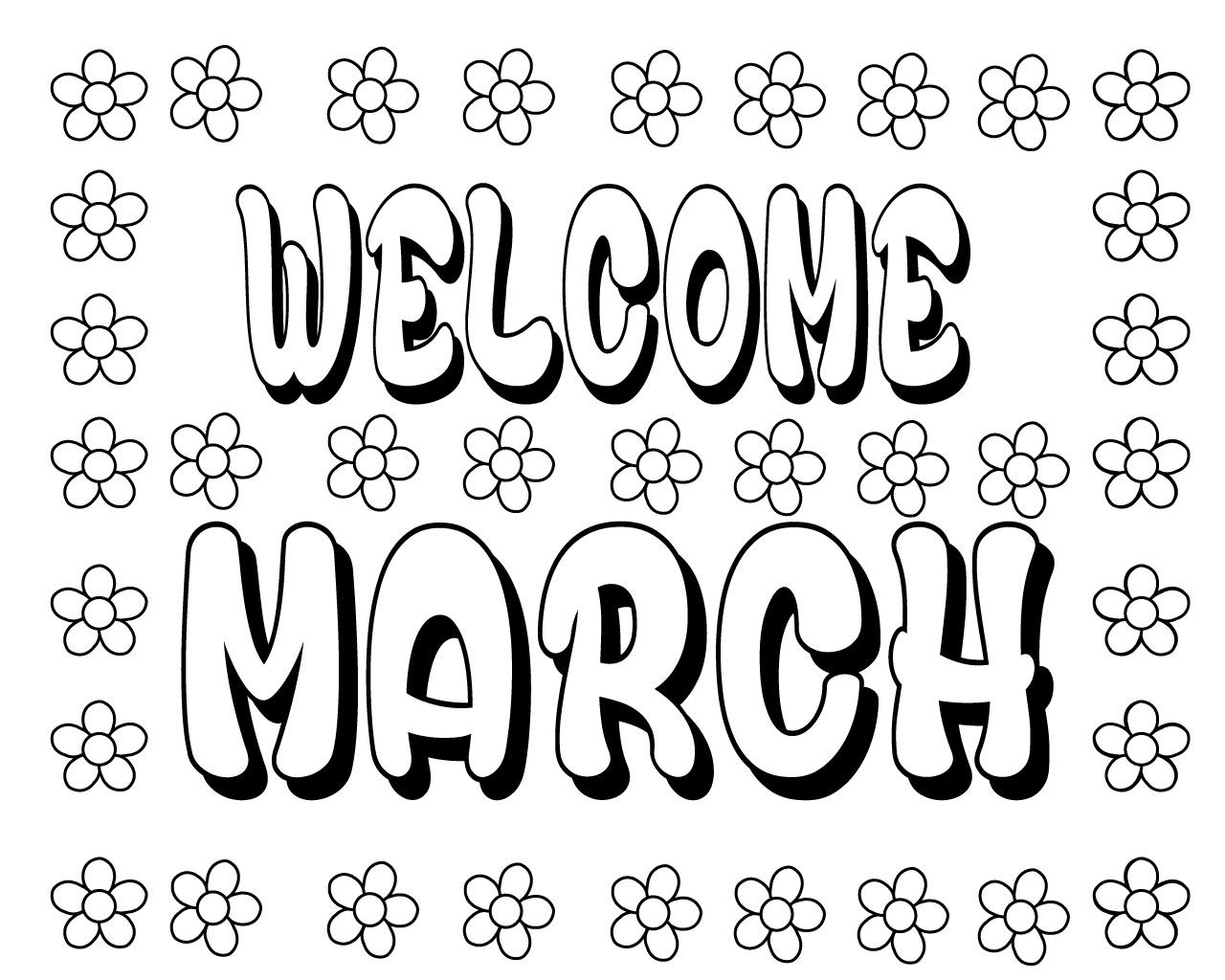 Free Printable March Coloring Pages for Kids Coloring