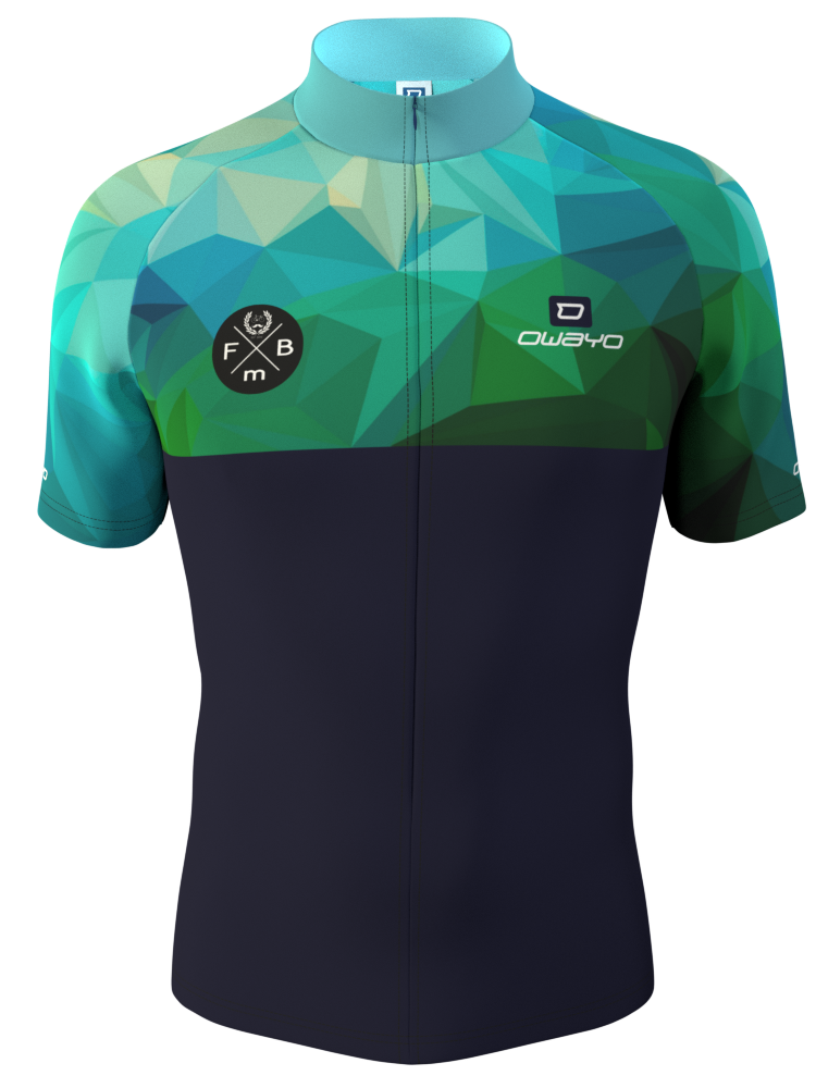 Simple And Modern Bike Jersey Design With Green And Blue Made In