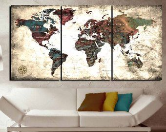 Large world map canvas wall artworld map wall artworld map canvas large world map canvas wall artworld map wall artworld map canvas gumiabroncs Images