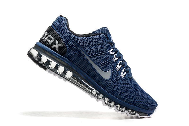 Nike Air Max 2003 Zapatos De Hombre Azul Blanco 5001 Kicks/Hats