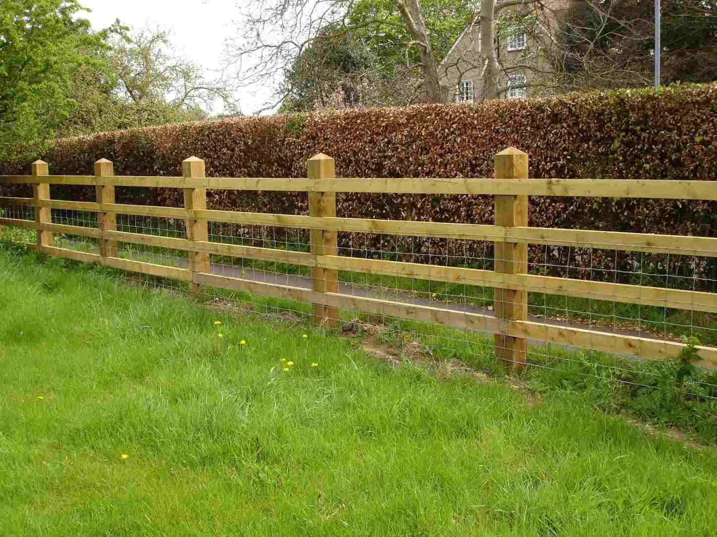 Rail fence post paddock fencing and field gates