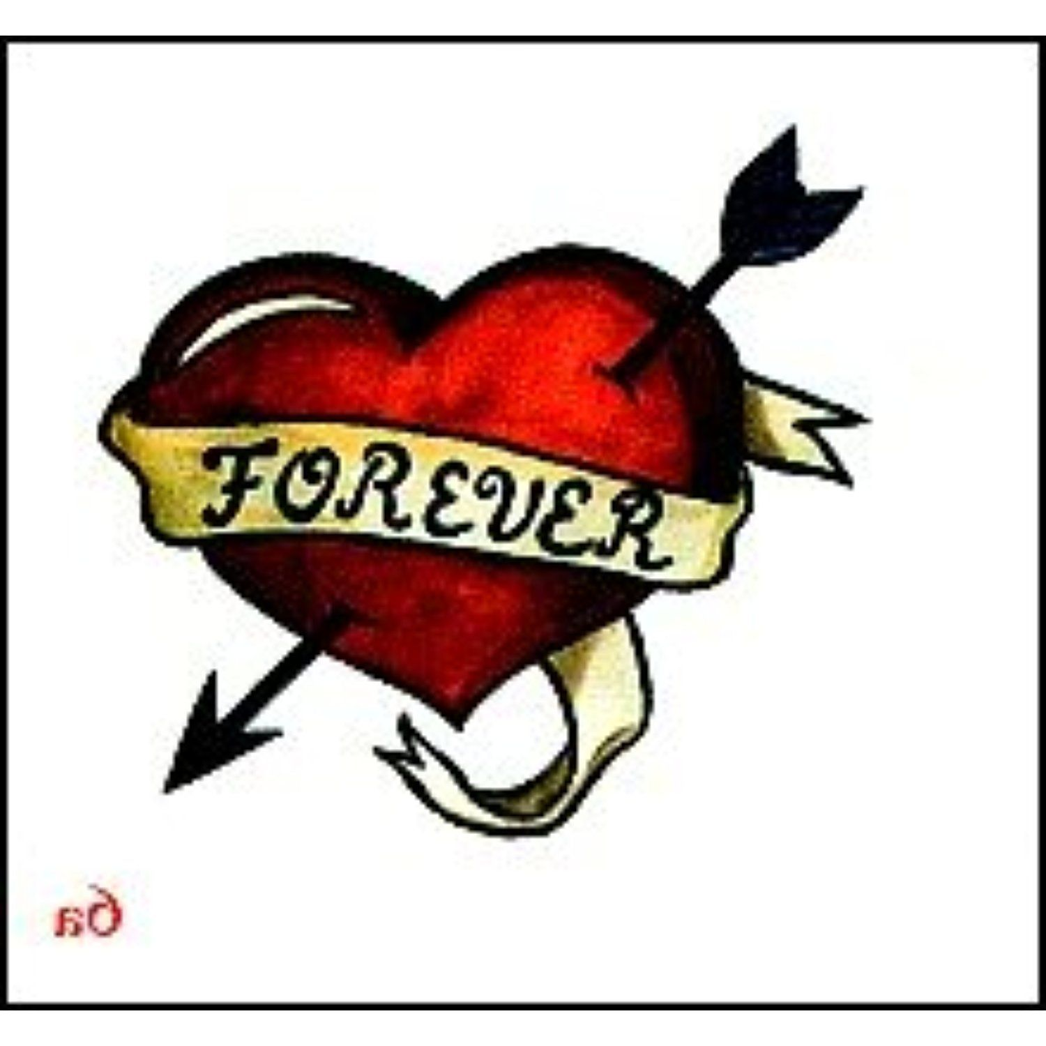 Forever heart temporary tattoo you can get more for Where can i get a temporary tattoo