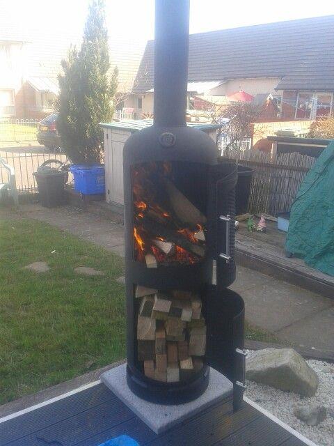 Gas bottle log burner home made