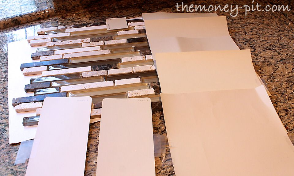 The Money Pit Installing A Pencil Tile Backsplash And Cost Breakd