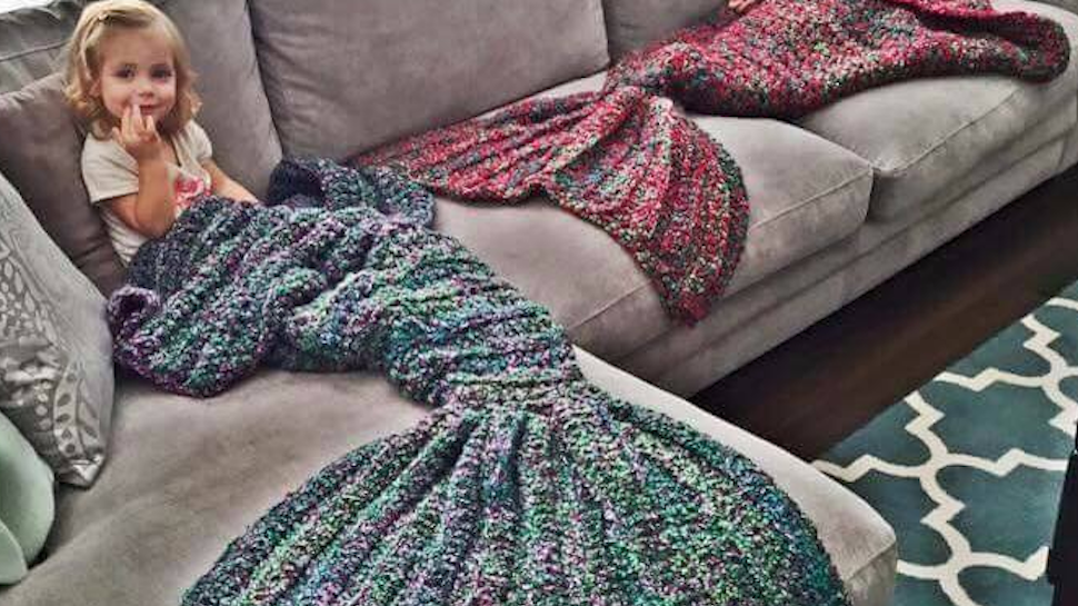 Bring The Sea To Your Couch With A Mermaid Tail Blanket Nerdist Crochet Mermaid Blanket Crochet Mermaid Baby Girl Crochet Blanket