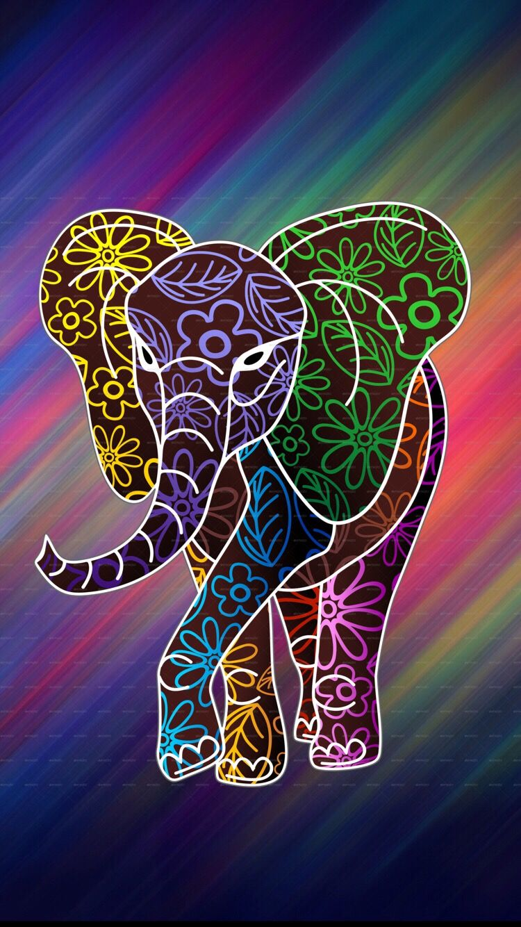 Elephant Colorful Elephant Wallpaper Elephant Art Elephant
