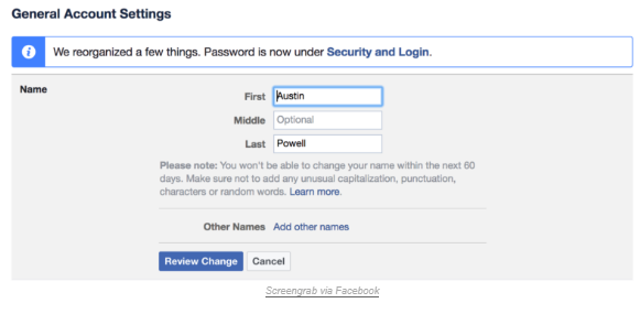 How To Change Name On Facebook Page How To Change Name Names