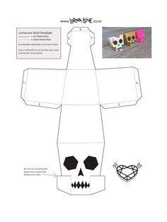 LornaLove papercraft skull - lornalove-papercraft-skull.pdf - Fichier PDF