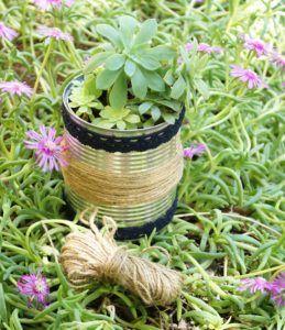 DIY : comment recycler une boîte de conserve en pot de fleurs ?