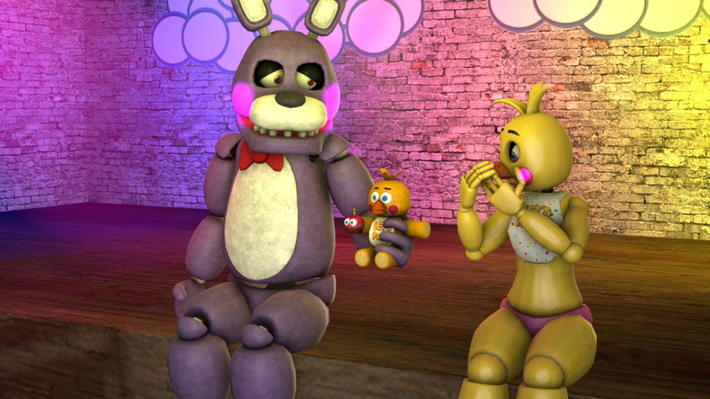 (SFM)Bonnie x Toy Chica 2 by ShadowPikachuu