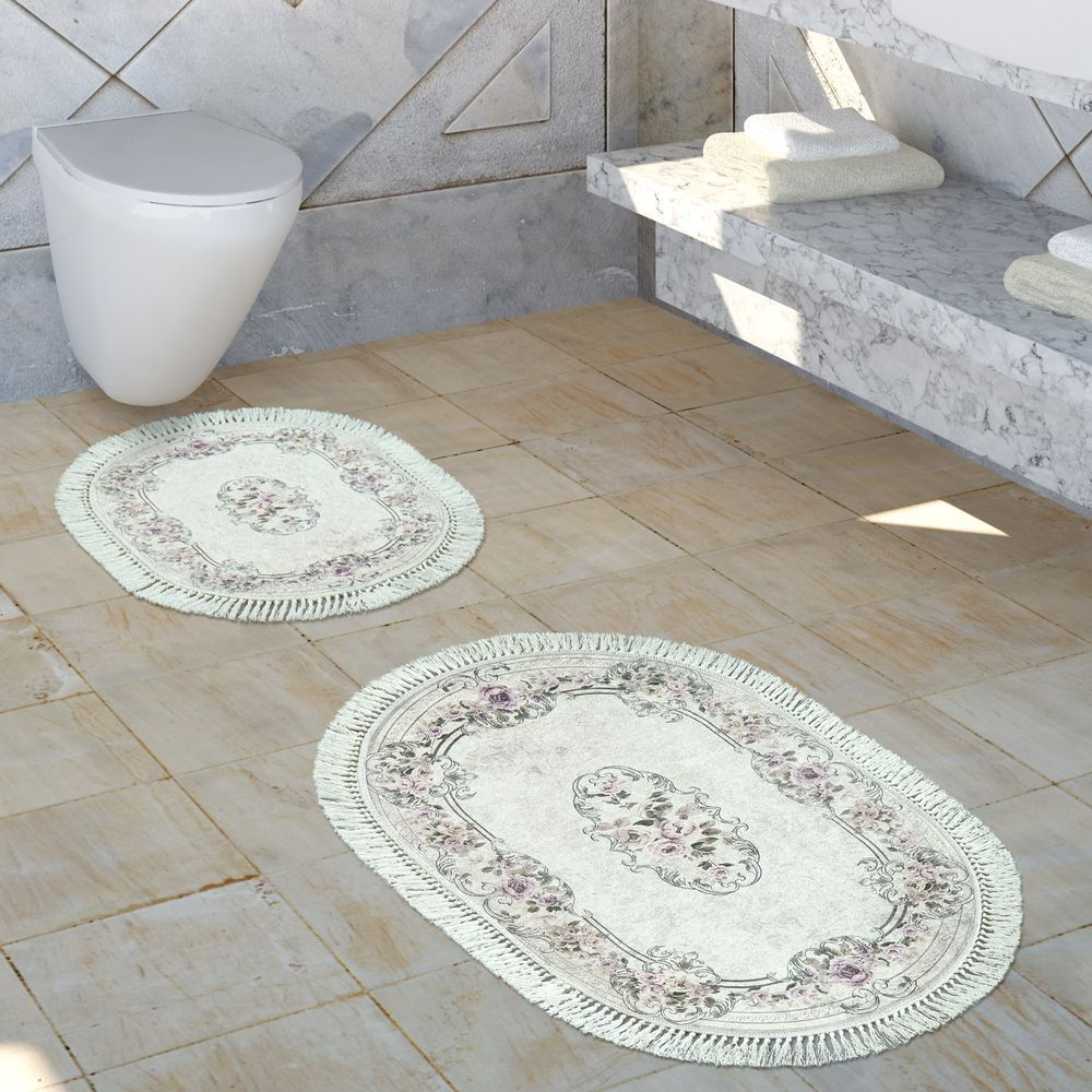 Badematte Badezimmer Teppich Set Ornamente Badezimmerteppich Badezimmer Badezimmer Set
