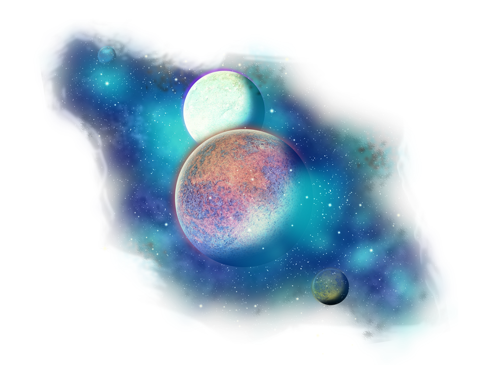 Freetoedit Clipart Png Stars Galaxy Planets With A Transparent Background Br Remixit Watercolor Splash Png Planet Design Wreath Clip Art