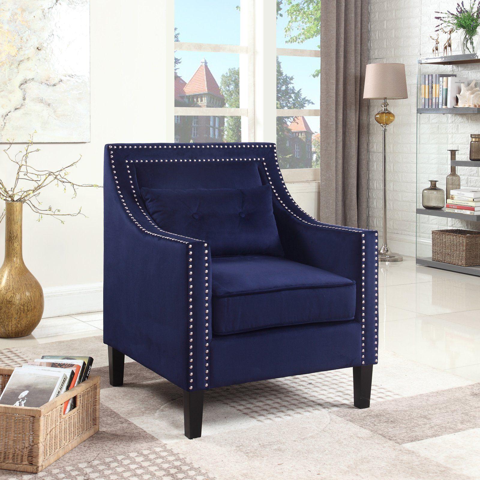 Best Master Furniture Edinburgh Suede Accent Arm Chair 400 x 300